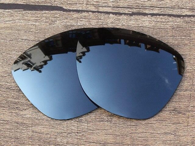 Черный Иридиум Зеркало Поляризованных Сменные Линзы Для Frogskins Солнцезащитные Очки Кадров 100% UVA и UVB Защиты