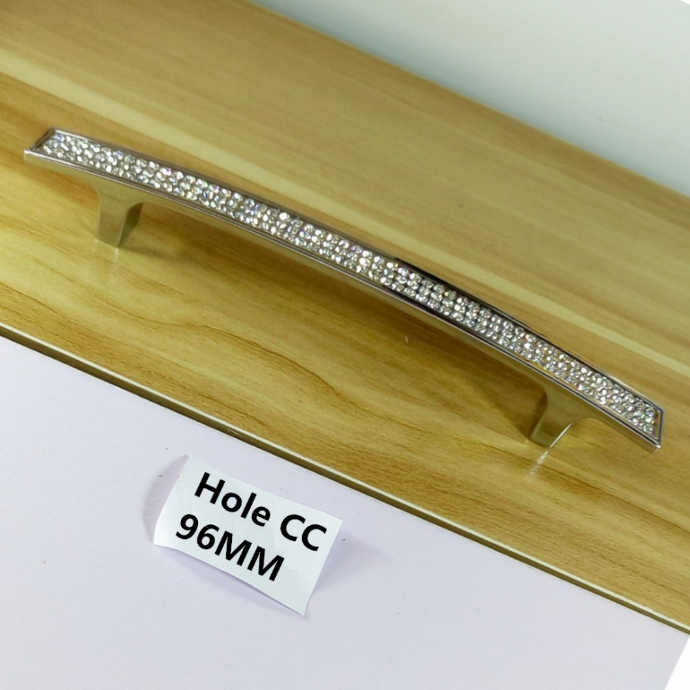 Einzigen Loch96mm128mm160mm Kristall Möbel Griff Kommode