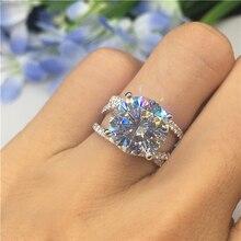 цена на New Arrival Big Zircon CZ Stone Silver Cute Rings for Women Wedding Engagement Ring Fashion Jewelry 2019