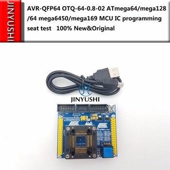 ATMEL AVR-QFP64 OTQ-64-0.8-02 ATmega64/mega128/64 mega6450/mega169 MCU IC programming seat test socket Burn-in Socket test bench