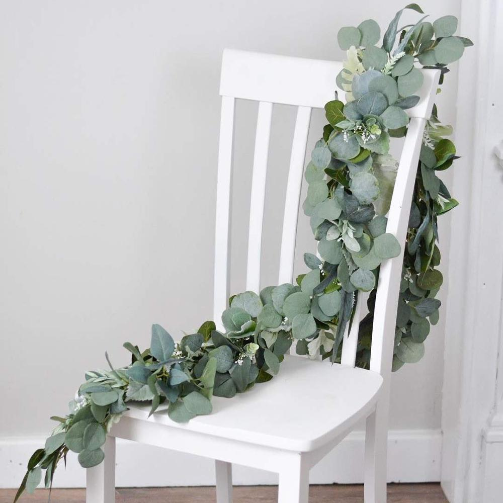 Wedding Decoration Artificial Plants Green Eucalyptus Vines Rattan Artificial Fake Plants Ivy Wreath Wall Decor Vertical Garden