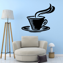 DIY Art coffee Removable Pvc Wall Stickers Decals Bedroom Nursery Decoration