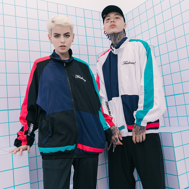 Aelfric Eden Mens Jackets 2018 Hip-Hop Outwear Autumn Fashion Hit Color Patchwork Casual Streetwear Male Thin Jacket Coat Fs27