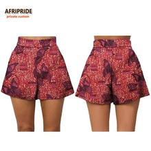 17 summer women beach shorts AFRIPRIDE private custom casual short pants 100% cotton batik print pattern A722108