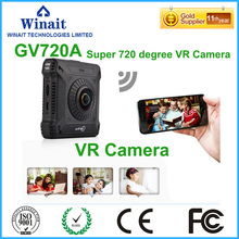 การกระทำกล้อง360 VRกล้องวิดีโอบันทึกกล้องขนาดเล็กWiFiการกระทำกีฬาDVสองด้านตาปลาเลนส์เซ็นเซอร์แรงโน้มถ่วงเวบแคมGV720A