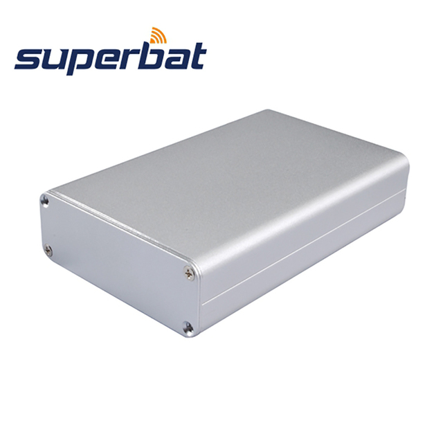 Superbat อิเล็กทรอนิกส์อัดอลูมิเนียม Enclosure กรณีเครื่องมือ PCB แหล่งจ่ายไฟเครื่องขยายเสียงกล่อง DIY 110*71*26 มม.