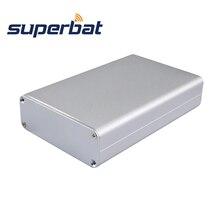 Superbat eletrônico extrudado alumínio gabinete caso instrumento pcb fonte de alimentação caixa amplificador diy 110*71*26mm