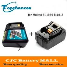 Haute Qualité Nouveau Rechargeable 3000 mAh 18 V Li-Ion Power Tool Batterie De Remplacement pour Makita BL1830 Bl1815 194230-4 LXT400 + Chargeur