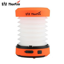 ThorFire 30-125LM LED Camping Lantern DC 5V USB Rechargeable Mini Flashlight Torch Light Lamp CL01 Collapsible Hand Crank Hiking