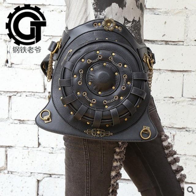 Carteras de mujer de Acero Principal Bolsa de Moda Steampunk Steam Punk Retro Rock Gótico SteamPunk Mochila mochila bolsas