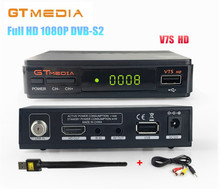 [Genuine] GTMEDIA V7S HD 1080P DVB-S2 Digital Satellite TV Receiver Supports PowerVu, Biss key,YouTube + AV cable + USB WiFi