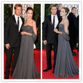 Fashion Angelina Jolie Dress Strapless A Line Chiffon Celebrity Red Carpet Dress vestido celebridades 2016