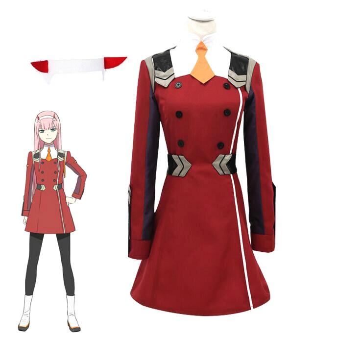 Chérie dans le Franxx Anime Cosplay Costume 02 Cosplay Zero deux marque femmes Costume ensembles complets