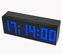 Desktop LED Digital Alarm Clock Wall Clock Large Countdown Timer with Temperature Date for Bedside Living Room Office