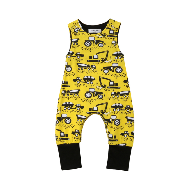 7117b2d2efb Newborn Kids Baby Boy Sleeveless Romper Jumpsuit Playsuit Summer Clothes  Motorcycle Printed Cute Boy Outfits 0-18M