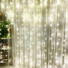 Заводская распродажа AC220V 1x2 м светодиодный Сказочный светильник в виде сосульки, гирлянды, рождественские свадебные украшения, вечерние гирлянды для дома и сада