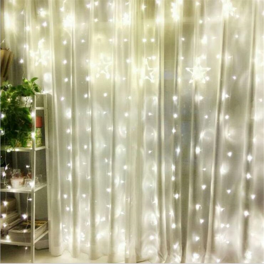 Factory Sales AC220V 1x2M LED icicle Curtain String Fairy Light Xmas ...