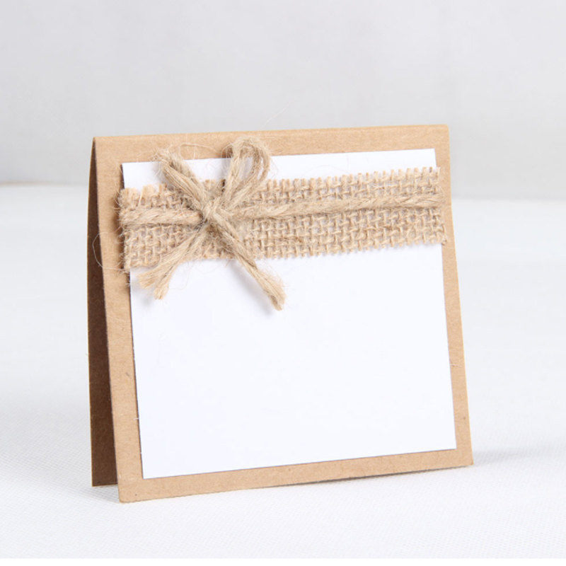 Farmhouse Style Birthdays Decoration Wedding Seats Various Parties Vintage Paper Card Sign Laser Cut Bow Table Cards Number Name
