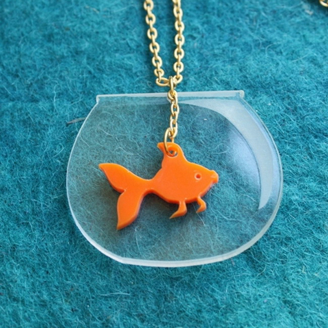 Creative Ffish tank Necklace 1