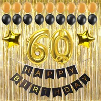 1 Set 30 40 50 60 Years Old Adult Birthday Party Diy Decoration Gift Paper Banner