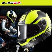 LS2 мерцающий флип moto rcycle Шлем модульная civikбыл зоны шлем FF325 анфас moto гонки шлемы Capacete Cascos moto Casques