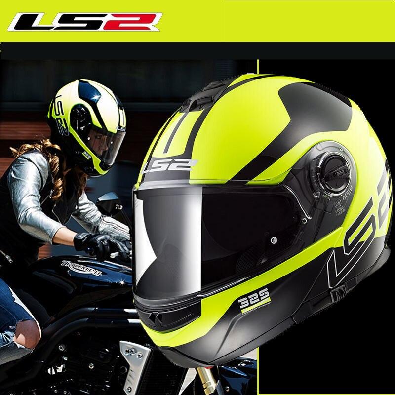LS2 casque de moto rcycle escamotable casque de ZONE CIVIK modulaire FF325 casque de moto de course intégral Capacete Cascos Casques de moto