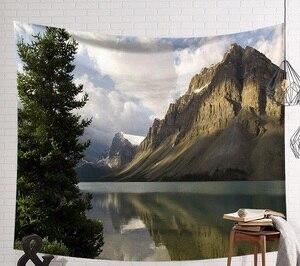 Image 5 - CAMMITEVER Schöne Mountain River Landschaft Tapisserie Wandbehang Kunst Wand Decke Wohnkultur Böhmen Mandala Blumen Teppich