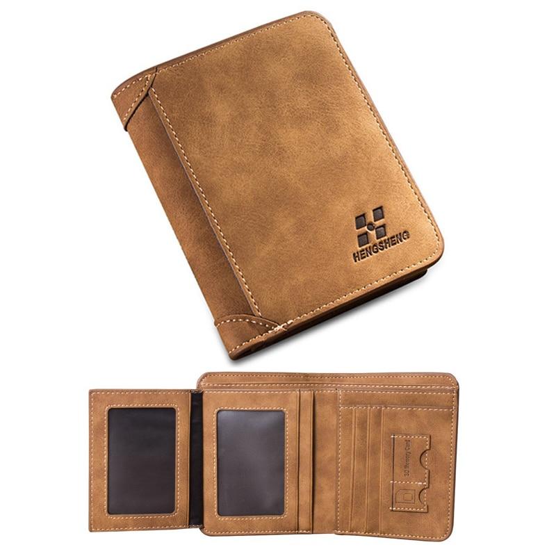 Vintage Designer Men Wallet Bifold Matte Leather Wallets Mens ...