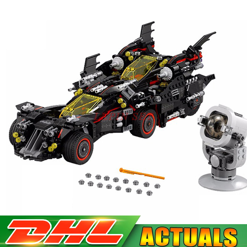 Lepin 07077 The Ultimate Batmobile Set DIY Toys Genuine Batman Movie Series Educational Building Blocks Bricks Gift Model 70917 lepin 07060 super series heroes movie the batman armored chariot set diy model batmobile building blocks bricks children toys