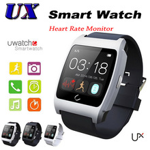 20PCS U Watch UX Bluetooth SmartWatch Heart Rate Smart Watch Waterproof Pedometer WristWatch Sync For Android iPhone Smart Phone
