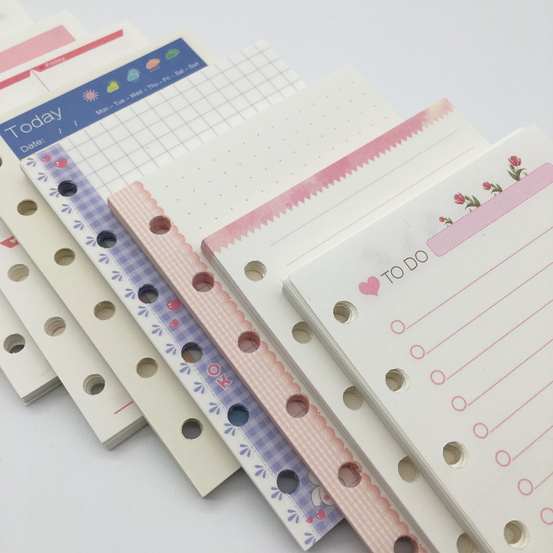 Loose Leaf A5 A6 <font><b>Spiral</b></font> Diary <font><b>Notebook</b></font> Shell, Cute Cartoon 6holes Travel Journal Planner <font><b>Personal</b></font> Agenda, DIY Accessory image