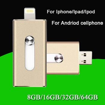 I-Flash Drive Storage FOR iPhone/iPad/iPod IOS 8pin USB Memory Stick 32GB 64GB 128GB OTG