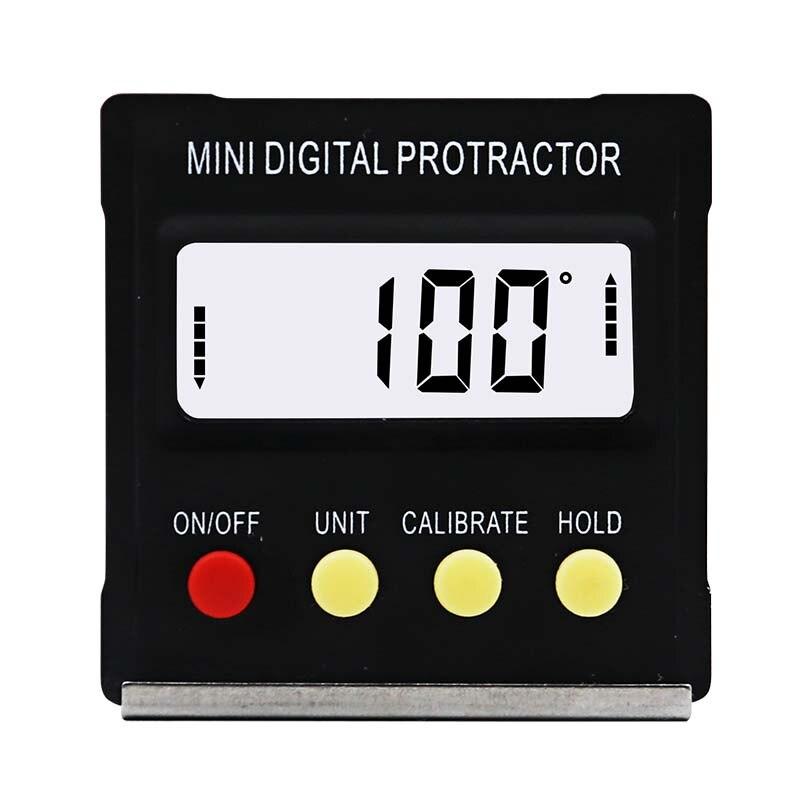 Digitale Winkelmesser Neigungs Ebene Box Wasserdicht Winkel Finder Messen Bevel Box Goniometer Magnet 90 grad Messer Lineal