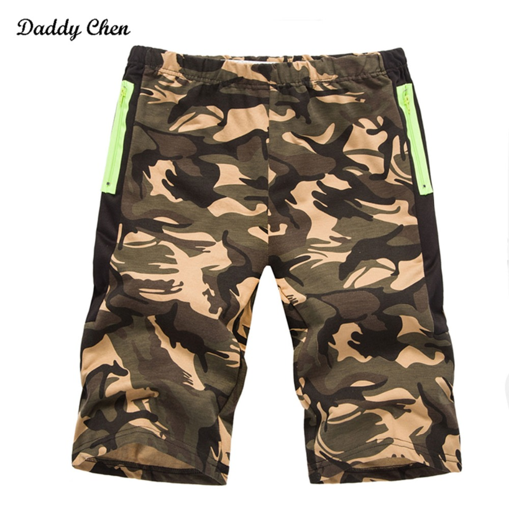 2018 brand summer Military camouflage Casual shorts men camo cargo Straight male shorts army green Gray Red pockets short pants