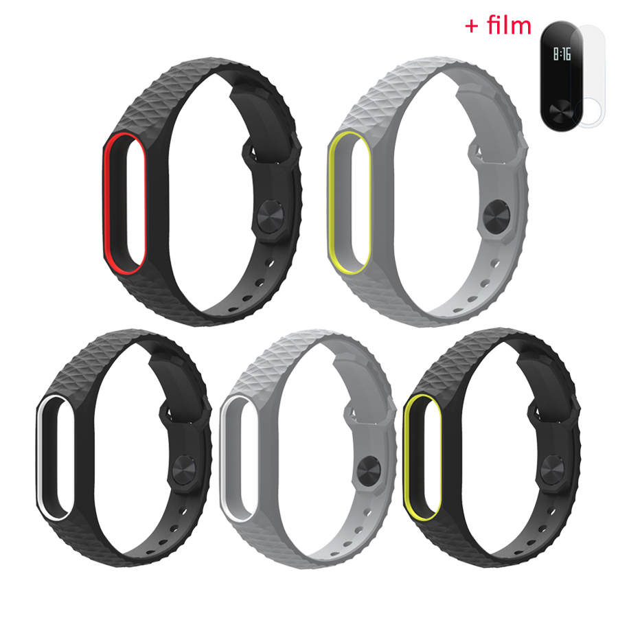 2pcs Screen Protector Film For Fitbit Charge 2 Full Cover Smart Xiaomi 042ampquot Mi Band Wristband Replace Black Mijobs Silicone Strap Original Wrist Straps Bracelet Replacement Accessories
