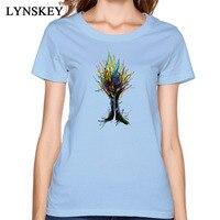 Tree T Shirt Women Autumn Cotton Shirts Creativity Art Design Coupons Unfading High Quality Fabric Clothing