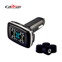 Car TPMS Diagnostic-Tool Tire Pressure Monitoring System with Pressure Warning System and USB Charging Port and Voltage Display autel maxitpms ts401 tpms diagnostic and service tool pre selection process offer faster activation and diagnostics