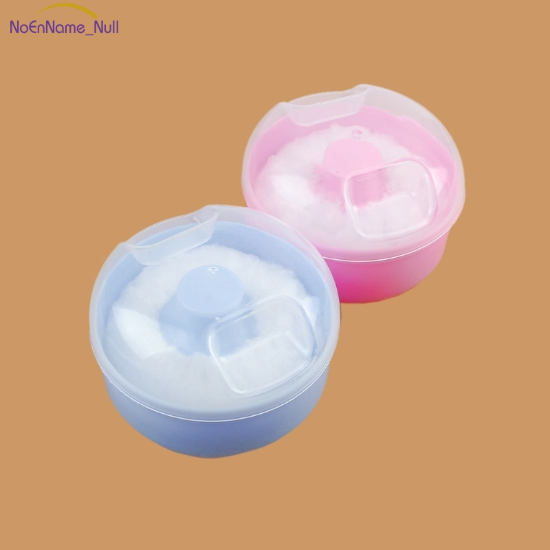Soft Perfect Baby Face Body Cosmetic Bath Puff Sponge Container Box Powder Case #046