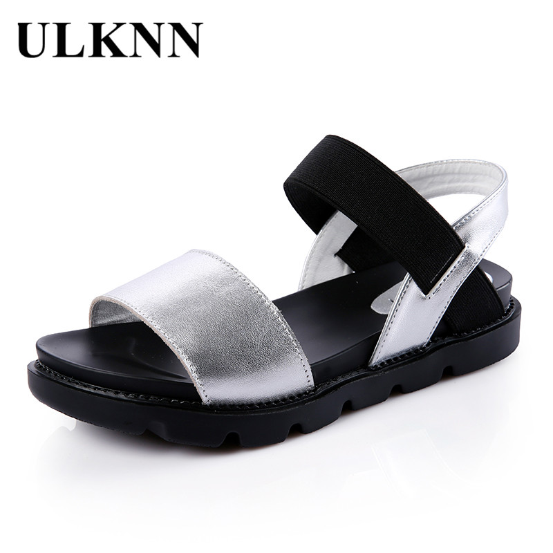 ULKNN Roman Casual Sandals For Girls Genuine Leather Summer Fashion Shoes Kids Girls Sandals Footwear Gladiator sandalias mujer modern countertop waterfall bathroom basin sink faucet filler oil rubbed bronze mixer taps