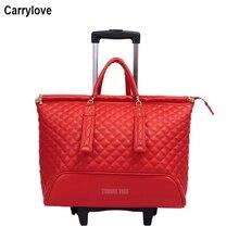 """CARRYLOVE 1"""" дюймов женская кожаная сумка на колесиках, сумка для путешествий, сумка для ручной клади на колесиках"""