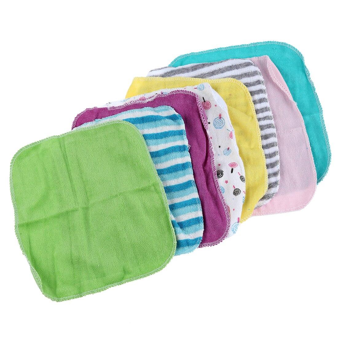 Детские Уход за кожей лица Прижимные шайбы Полотенца для рук хлопок протрите ткань мытья 8 шт./упак. ...