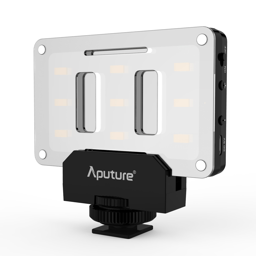 New Aputure AL M9 LED Video Light Built in Battery Pockable TLCI CRI 95 On camera