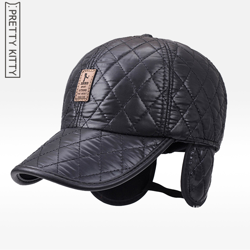 fleece baseball cap ear flaps womens with warm winter spring font for men leather