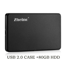 "zheino 2.5"" IDE/PATA 80GB Hard Drive for Laptop IBM DELL D610 D810 inspiron 9300 For IBM X31 X32 T41 T43 T43P R51 V80 R60(China)"