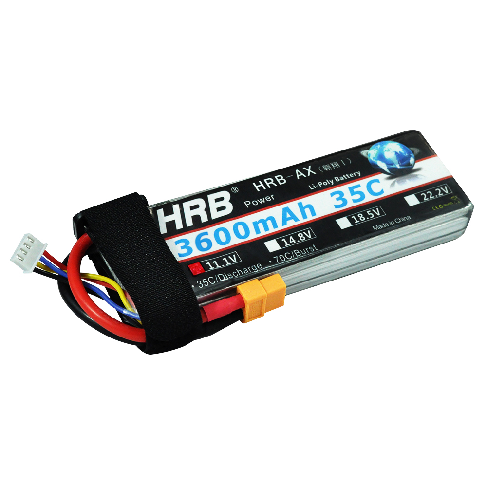 HRB Lipo <font><b>3S</b></font> <font><b>Battery</b></font> <font><b>11</b></font>.<font><b>1V</b></font> 3600mAh 35C MAX 70C XT60 Drone AKKU For Helicopter RC Bateria Airplane Car Boat Airplane Quadcopter