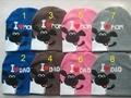 Оптовая продажа 20 шт./лот новый шлем младенца Я ЛЮБЛЮ МАМА ПАПА hat младенческой cap трикотажные Шон овец boy девушки шляпы