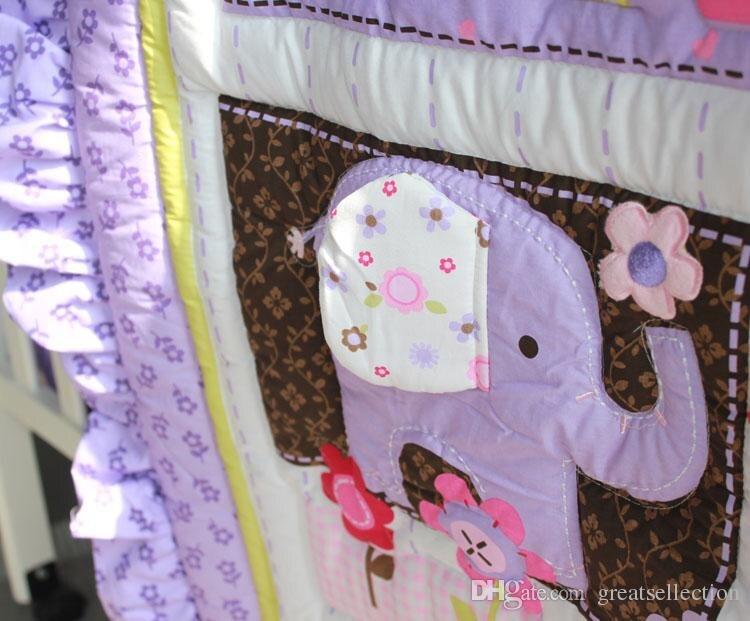 8 Piece Cotton Baby Crib Bedding Set ,quality Purple Owl Newborn Baby Girl  Bedding,100% Cotton Cot Nursery Bedding In Bedding Sets From Mother U0026 Kids  On ...
