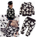 High quality spring and autumn boy cute cartoon pattern terry cotton casual suit 1-5 years old