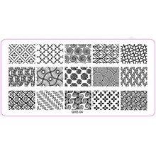 2018 Stainless Steel Stamping Plate Template Geometry Style DIY Polish Stamping Template Nail Stamp Template for Nails Art Q453L