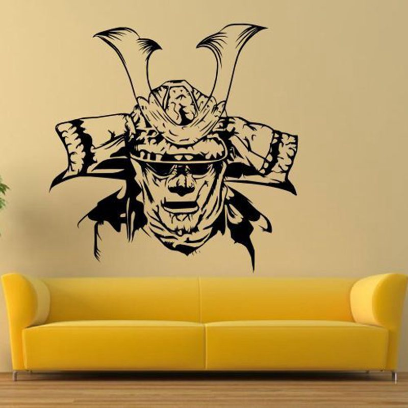 Online Shop Kendo Sticker Mask Samurai Decal Japan Ninja Poster ...